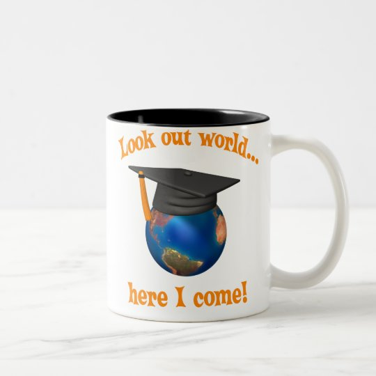 Funny Graduation Two-Tone Coffee Mug