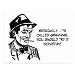 Funny Grammar Nazi Post Card