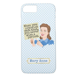 Funny Grammar Nerd | Practice Safe Text Custom iPhone 8/7 Case