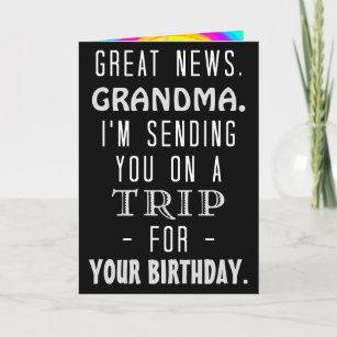 Funny Grandma Birthday Trip Retro Hippie Humor Card