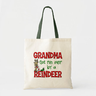 Funny Grandma Chrismtas Gift Canvas Bags