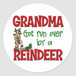 Funny Grandma Chrismtas Gift Round Stickers