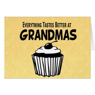 Funny Grandma Cupcake Card
