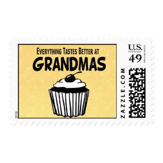 Funny Grandma Cupcake Stamp