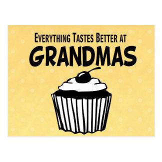 Funny Grandma Cupcake Postcard
