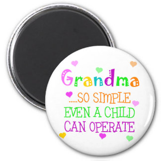 Funny Grandma Gift 2 Inch Round Magnet