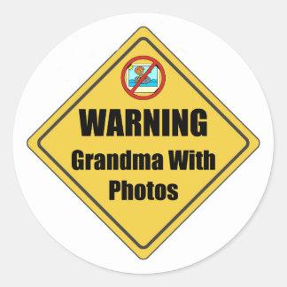Funny Grandma Gift Classic Round Sticker