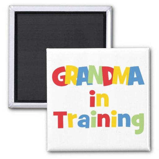 Funny Grandma In Training 2 Inch Square Magnet
