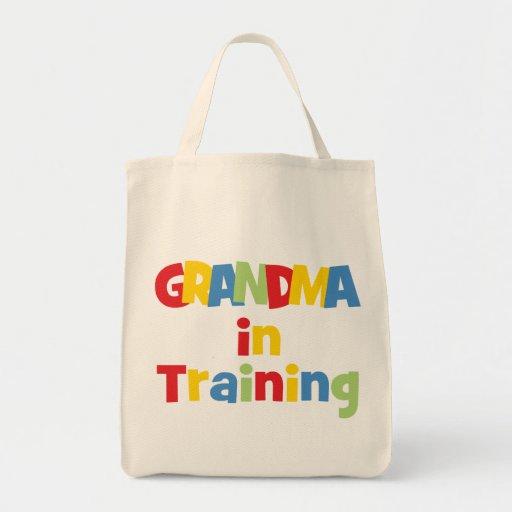 Funny Grandma In Training Grocery Tote Bag