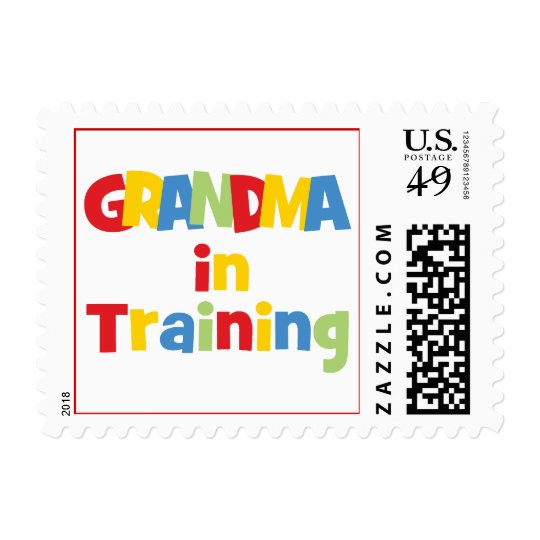 Funny Grandma In Training Postage