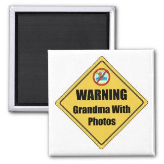 Funny Grandma With Photos Fridge Magnet