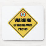 Funny Grandma With Photos Mousepads