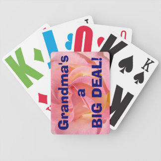 Funny Grandma's a BIG DEAL playing cards Humor
