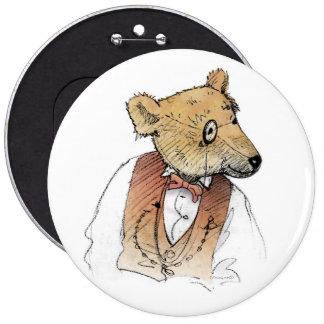 Funny Grandpa Bear Pinback Button