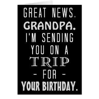 Funny Grandpa Birthday Trip Retro Hippie Humor Card