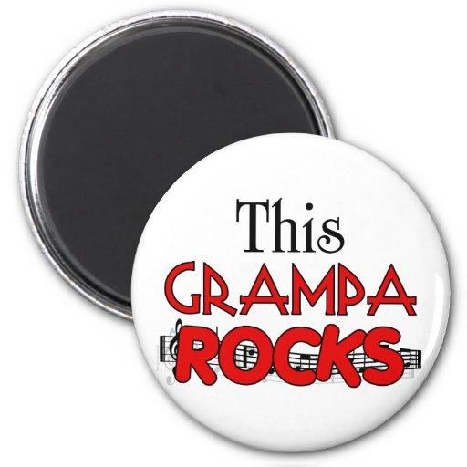 Funny Grandpa Gift 2 Inch Round Magnet