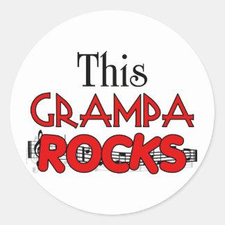 Funny Grandpa Gift Classic Round Sticker
