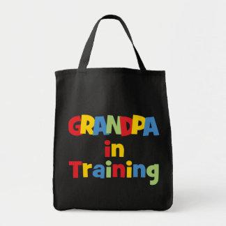 Funny Grandpa Gift Grocery Tote Bag
