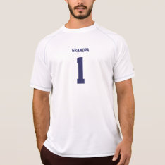 Funny Grandpa Personalized Sports Jersey T-shirt at Zazzle