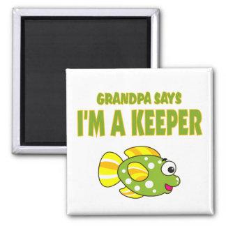 Funny Grandpa Says I'm A Keeper (Fish) Magnets