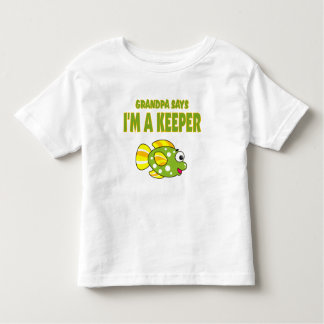 Funny Grandpa Says I'm A Keeper (Fish) Toddler T-shirt