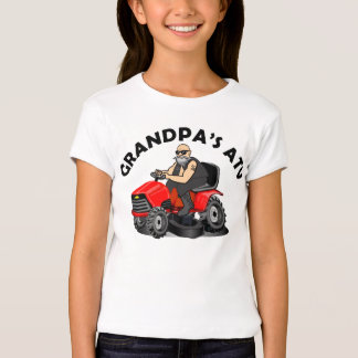 funny grandpa shirts, old man on lawnmower kids sh T-Shirt