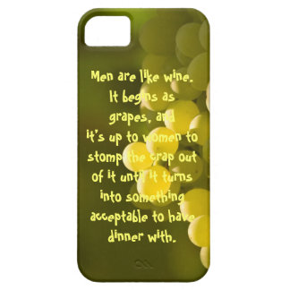 Funny Grape Quotes iPhone SE/5/5s Case