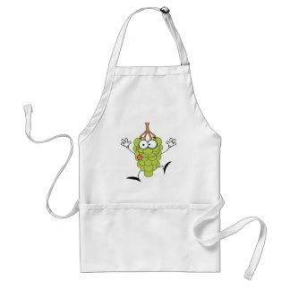 Funny Grapes Cartoon Character Adult Apron
