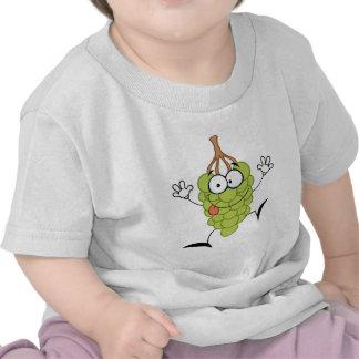 Funny Grapes Cartoon Character T-shirts