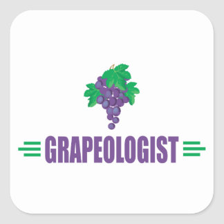 Funny Grapes Square Sticker