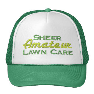 Funny Grass Cutting Trucker Hat