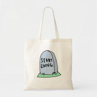 Funny Gravestone Tote Bag