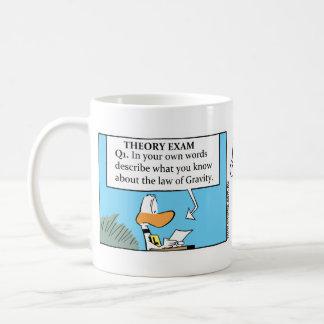 Funny Gravity Joke Cartoon Coffee Mug