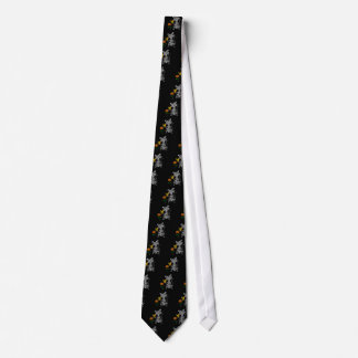 Funny Gray Tabby Cat Holding Butterfly Tie