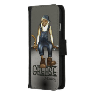 Funny Grease Monkey Mechanic iPhone 8/7 Wallet Case