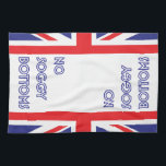 """Funny Great British Bake Off Soggy Bottoms Kitchen Towel<br><div class=""""desc"""">Never let Mary Berry catch you with a soggy bottom! A great gift for any Great British Bake Off fan,  every star baker knows to blind bake that crust!!!! Clean up your kitchen after a great day of baking with this funny,  tongue in cheek tea towel!</div>"""