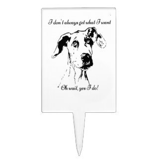 Funny Great Dane Dog Quote Cake Topper