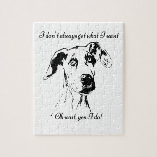 Funny Great Dane Dog Quote Jigsaw Puzzle