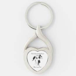 Funny Great Dane Spoiled Dog Humor Quote Keychain