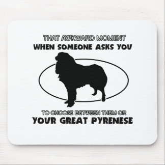 Funny GREAT PYRENESE designs Mouse Pad