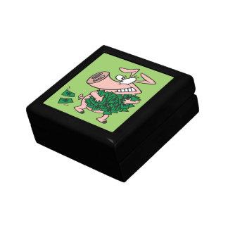 funny greedy money hog piggy pig gift box