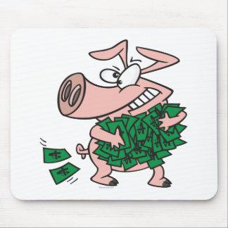 funny greedy money hog piggy pig mousepad
