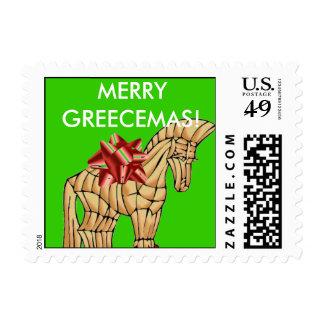Funny Greek Christmas Stamp