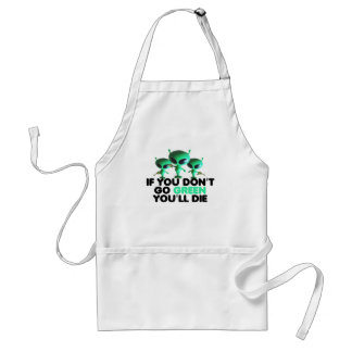 Funny green adult apron