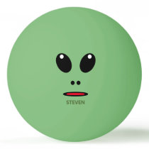 Funny Green Alien Face Personalized Ping Pong Ball