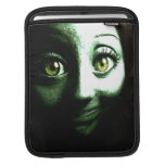 Funny Green Alien or Zombie Teen Sleeve For iPads