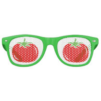Funny green and red tomato party shades sunglasses
