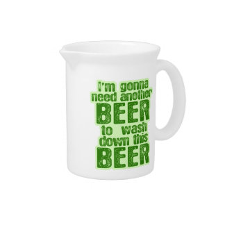 Funny Green Beer Day Drink Pitcher