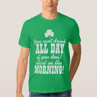Funny Green Beer Day Drinking Tshirt