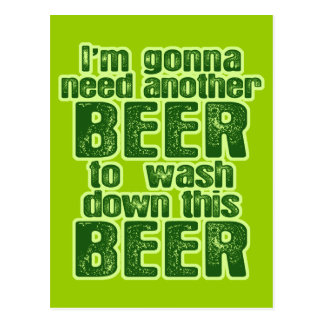 Funny Green Beer Day Postcard